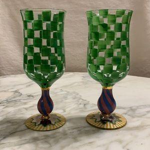 McKenzie Childs tall water goblet